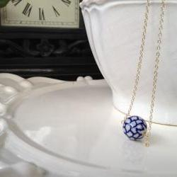 Handmade Porcelain Bead Necklace
