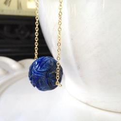 Lapis Asian Ball Pendant