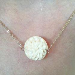 Carved Floral Pendant